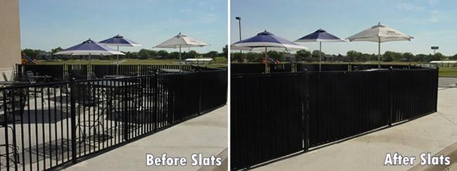 Aluminum Fence Privacy Slats Aluminum Fence Louvers