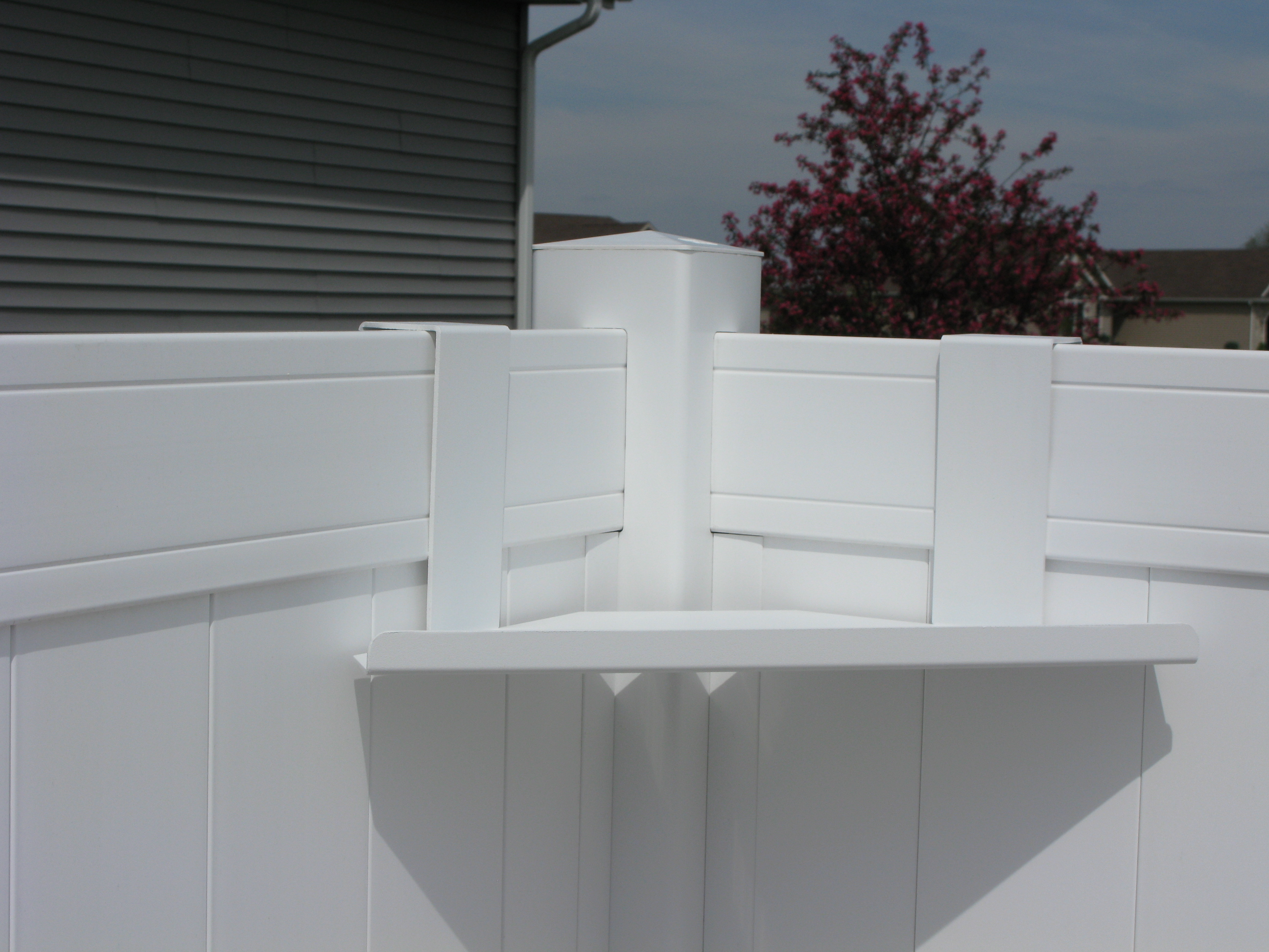 Corner Fence Shelves