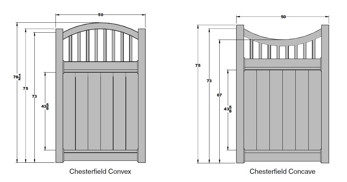 Chesterfield Victorian Vinyl Fence Gates By Bufftech